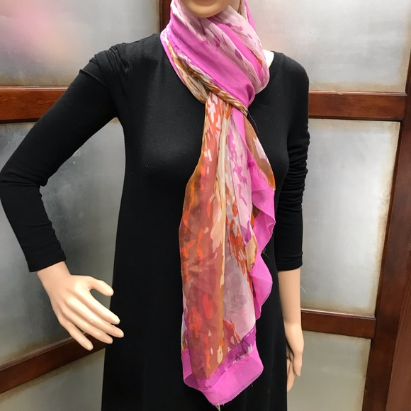 Cejon Accessories - Cejon Summer Splash Over sized Scarf Magenta